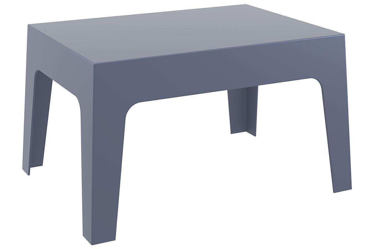CLP Petite table d'appoint BOX 70 x 50 cm, gris foncé CLP gris foncé, hauteur de l'assise
