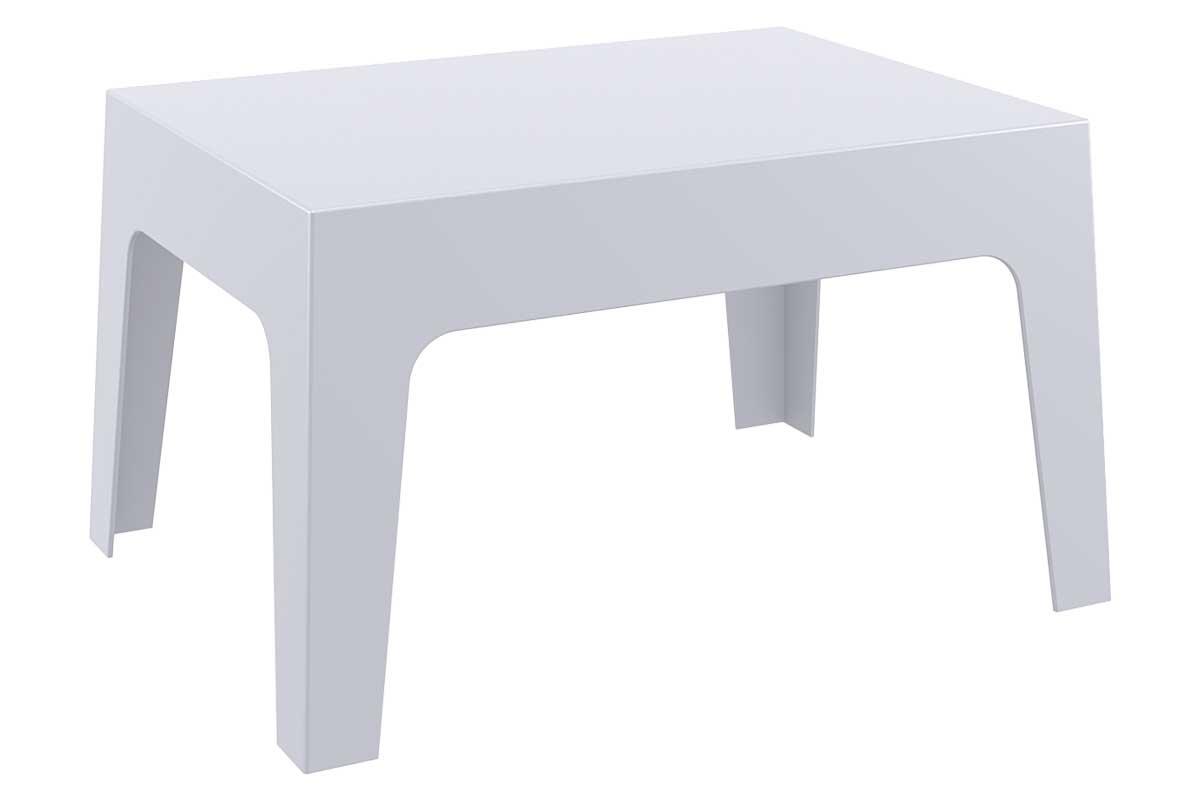 CLP Petite table d'appoint BOX 70 x 50 cm, gris clair CLP gris clair, hauteur de l'assise
