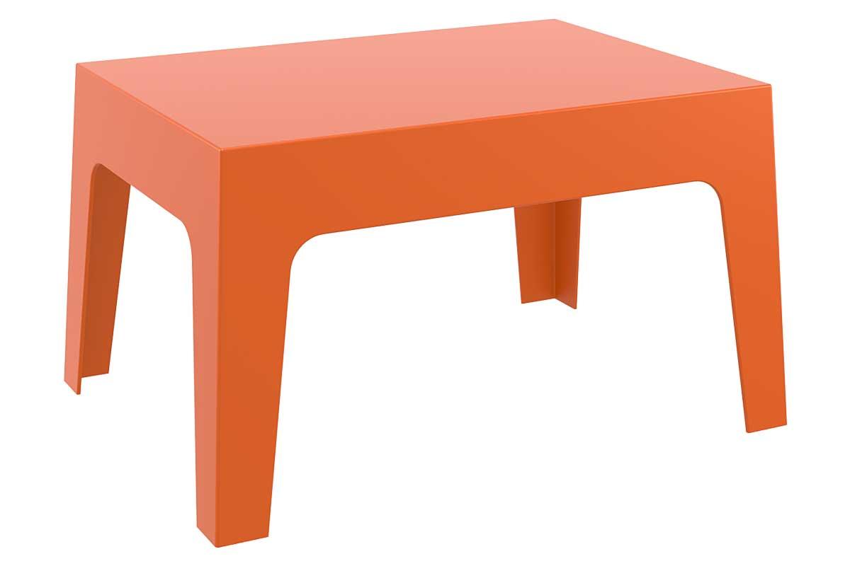 CLP Petite table d'appoint BOX 70 x 50 cm, orange CLP orange, hauteur de l'assise