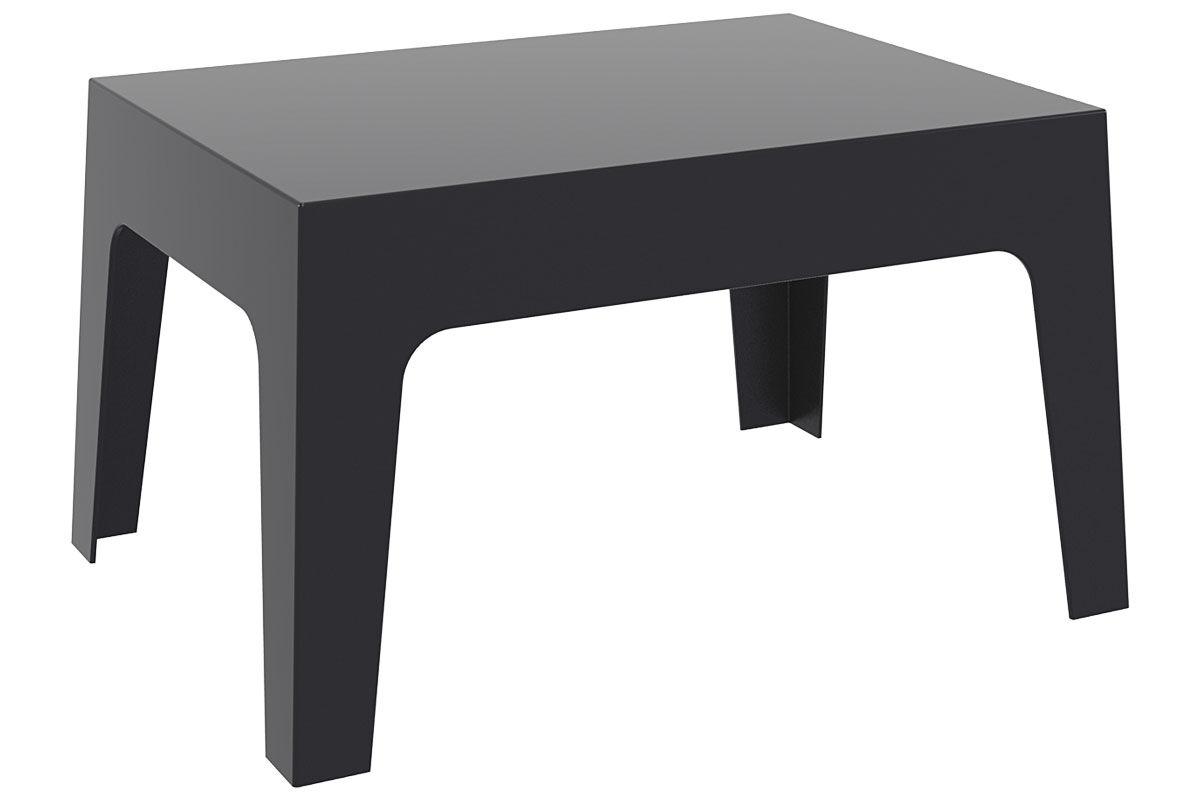 CLP Petite table d'appoint BOX 70 x 50 cm, noir CLP noir, hauteur de l'assise