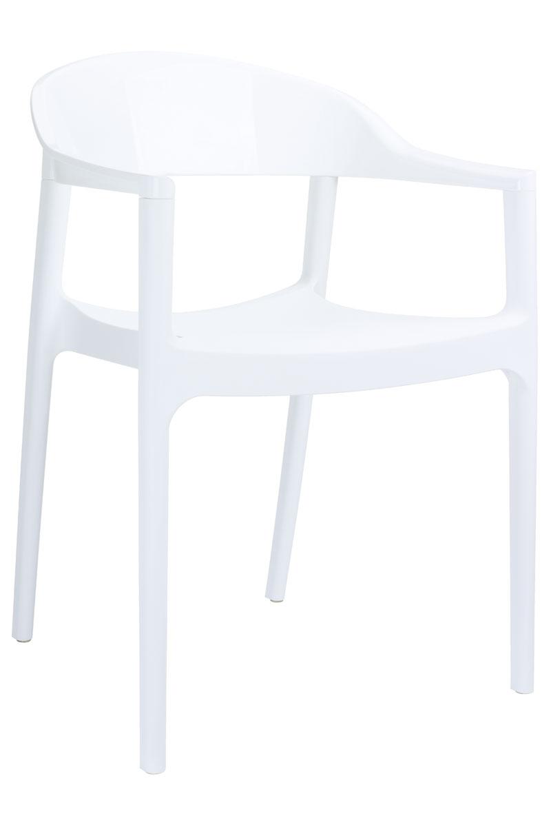 CLP Chaise empilable Carmen, blanc brillant CLP blanc brillant, hauteur de l'assise