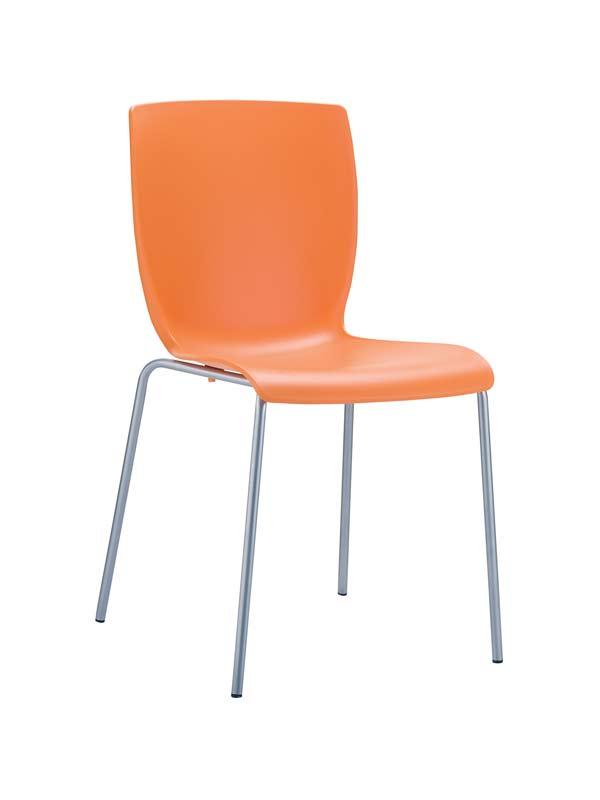 CLP Chaise design MIO , orange CLP orange, hauteur de l'assise