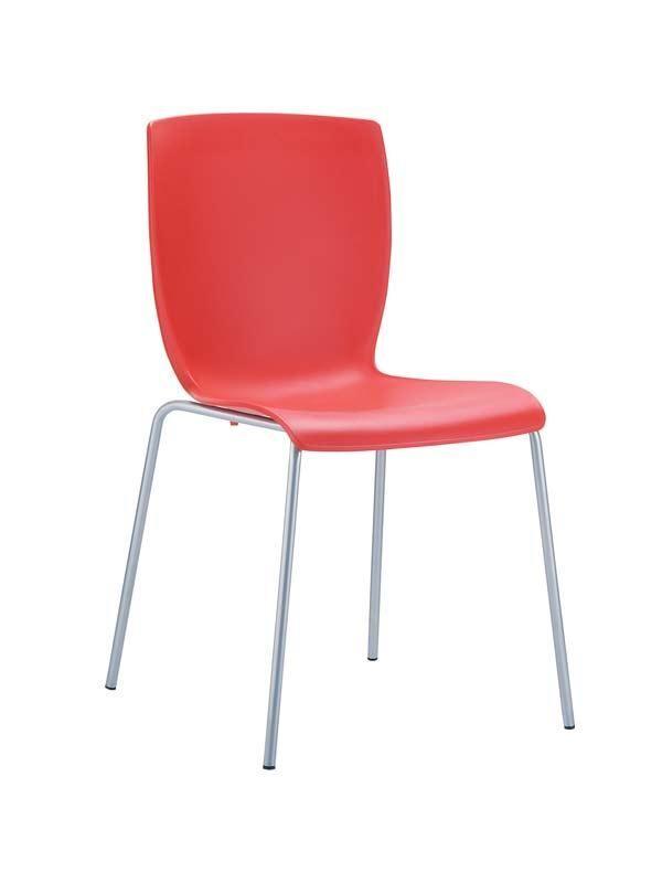 CLP Chaise design MIO , rouge CLP rouge, hauteur de l'assise