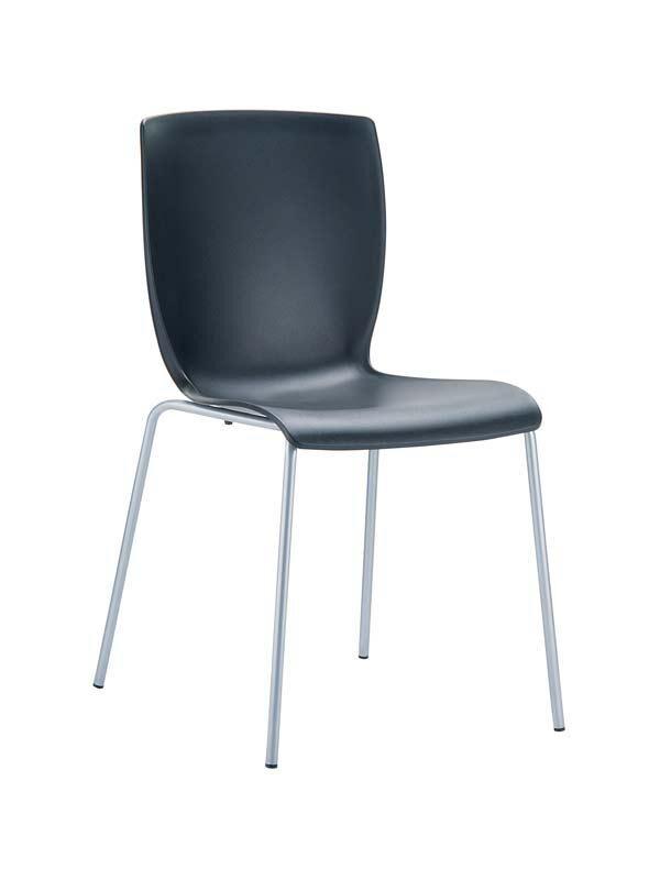 CLP Chaise design MIO , noir CLP noir, hauteur de l'assise
