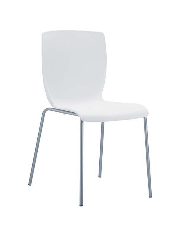 CLP Chaise design MIO , blanc CLP blanc, hauteur de l'assise
