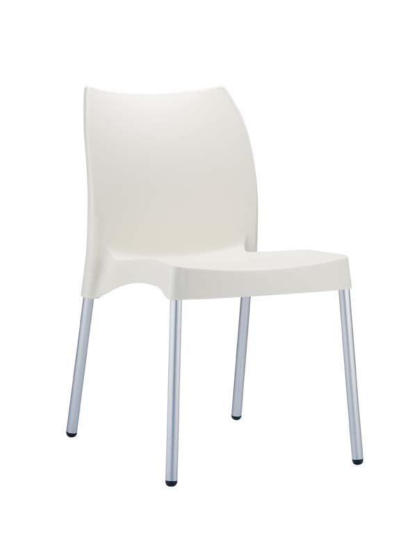 CLP Chaise design VITA , crème CLP crème, hauteur de l'assise