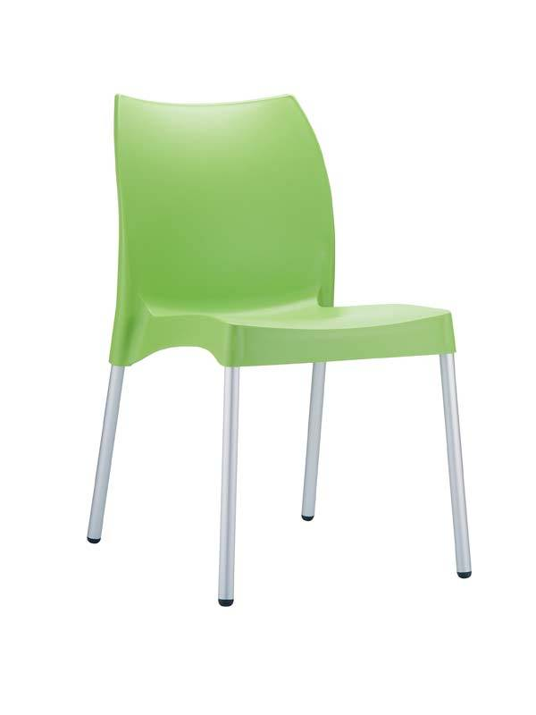 CLP Chaise design VITA , vert CLP vert, hauteur de l'assise