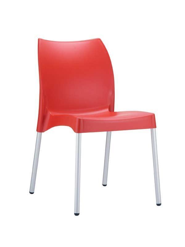 CLP Chaise design VITA , rouge CLP rouge, hauteur de l'assise