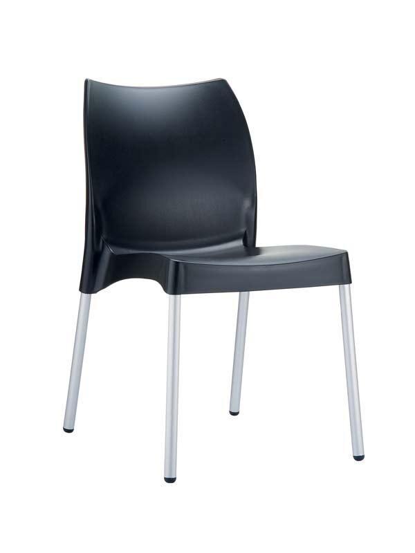 CLP Chaise design VITA , noir CLP noir, hauteur de l'assise
