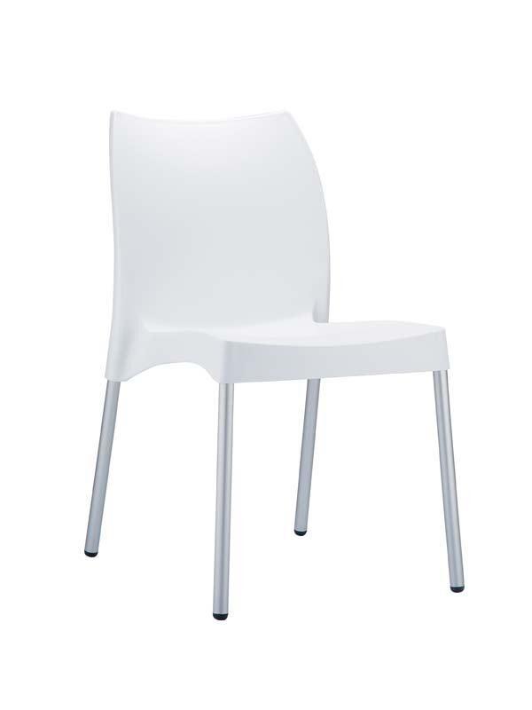 CLP Chaise design VITA , blanc CLP blanc, hauteur de l'assise
