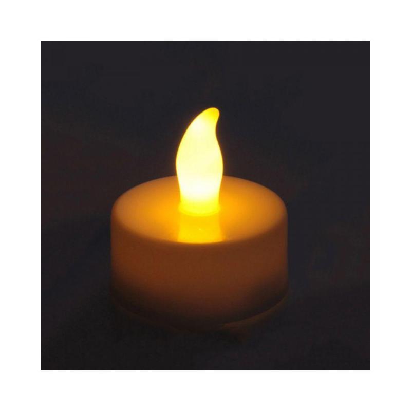 SILAMP Bougie LED Chauffe Plat à Piles (Lot de 2) - Blanc