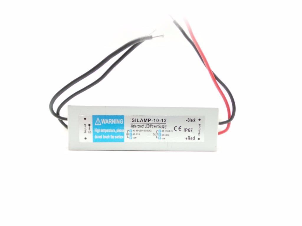 SILAMP Transformateur 220V 12V IP67 10W DC 0.83A