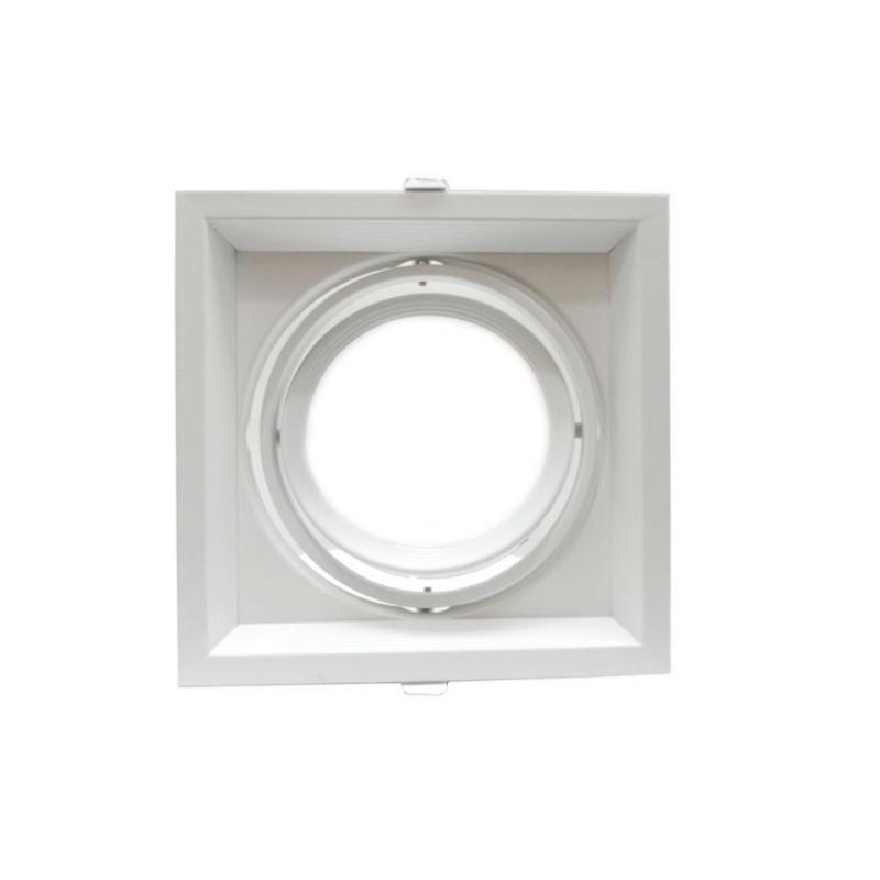 Silamp Support Orientable BLANC Encastrable pour Ampoule AR111 - Blanc