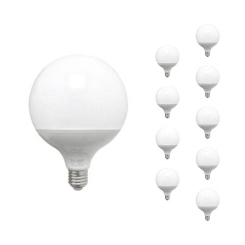 SILAMP Ampoule LED E27 18W 220V G95 300° (Pack de 10) - Blanc Froid 6000K - 8000K