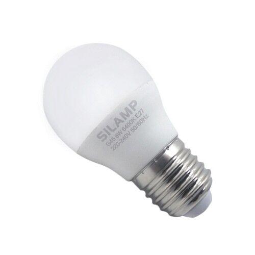SILAMP Ampoule LED E27 8W 220V G45 300° - Blanc Chaud 2300K - 3500K