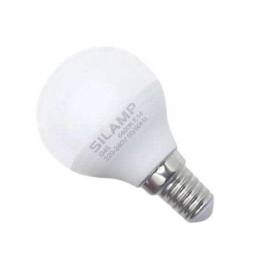 SILAMP Ampoule LED E14 8W 220V G45 300° - Blanc Froid 6000K - 8000K