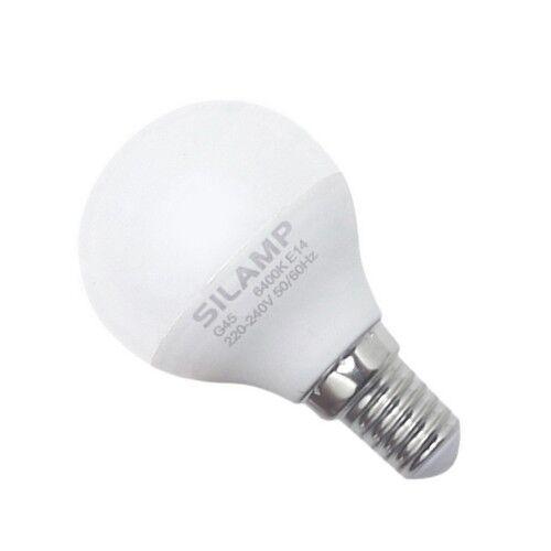 SILAMP Ampoule LED E14 8W 220V G45 300° - Blanc Chaud 2300K - 3500K