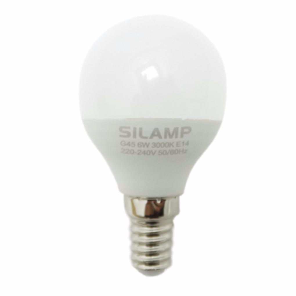 SILAMP Ampoule LED E14 6W 220V G50 220° - Blanc Neutre 4000K - 5500K