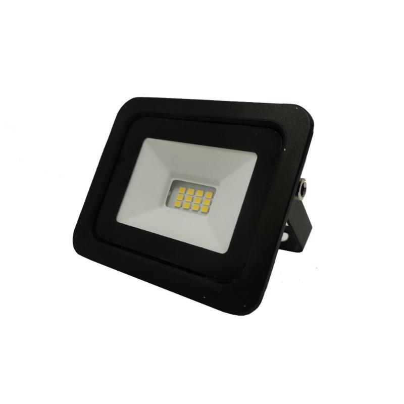 SILAMP Projecteur LED Extérieur 10W IP65 Noir - Blanc Froid 6000K - 8000K