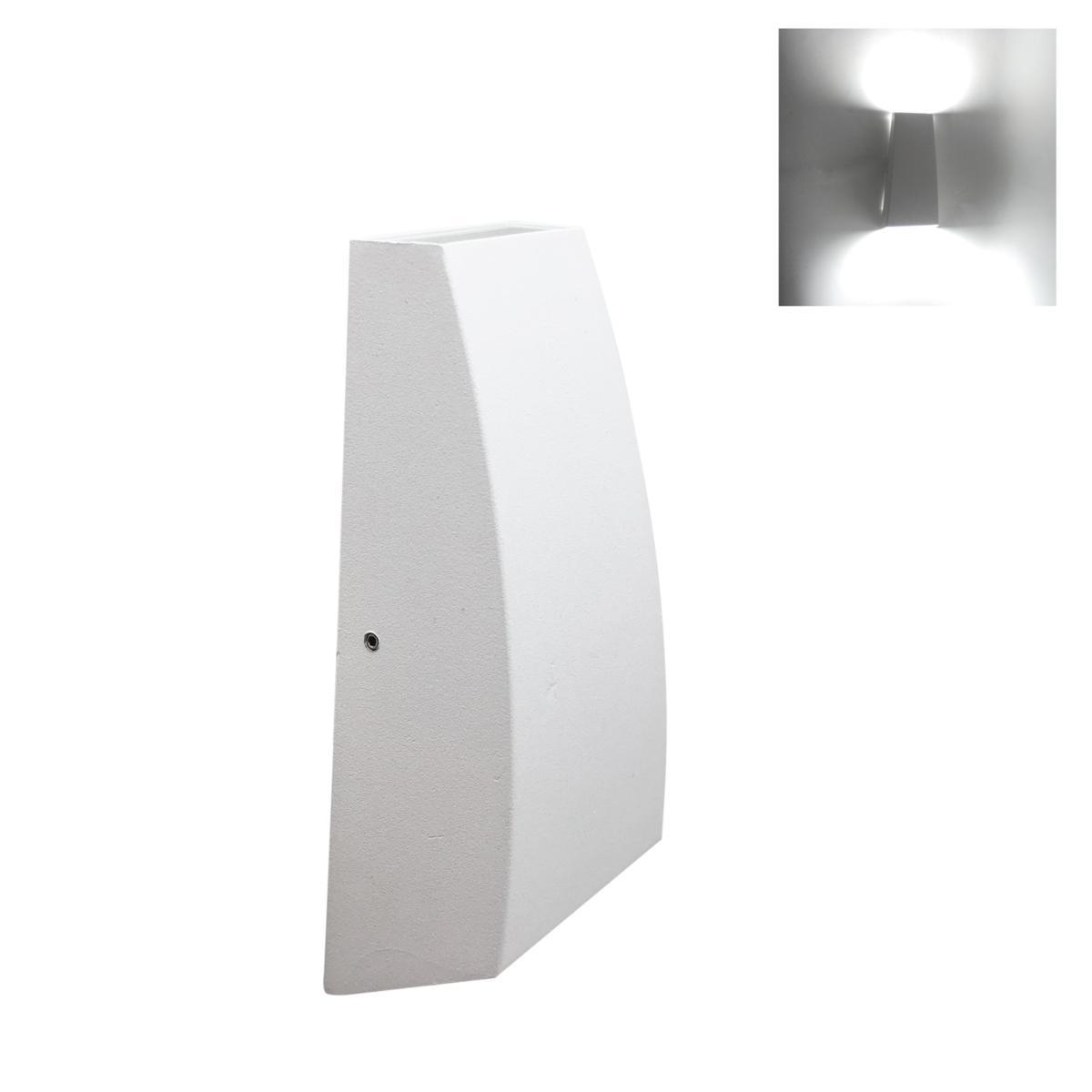 SILAMP Applique murale LED Double Faisceaux 7W IP44 BLANC - Blanc Neutre 4000K - 5500K