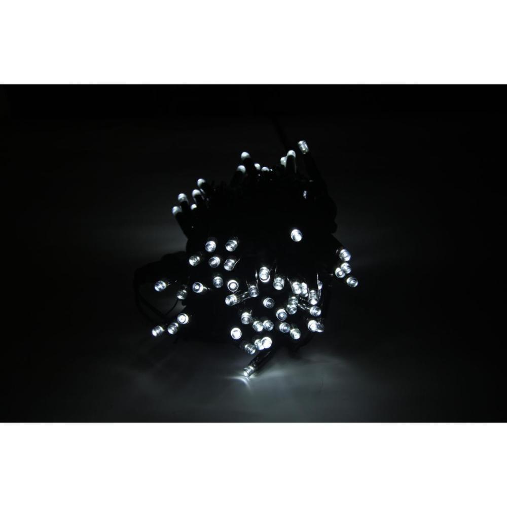 SILAMP Guirlande LED 220V 10M IP44 8W 100 LED raccordable (+connecteur) - Blanc Froid 6000K - 8000K