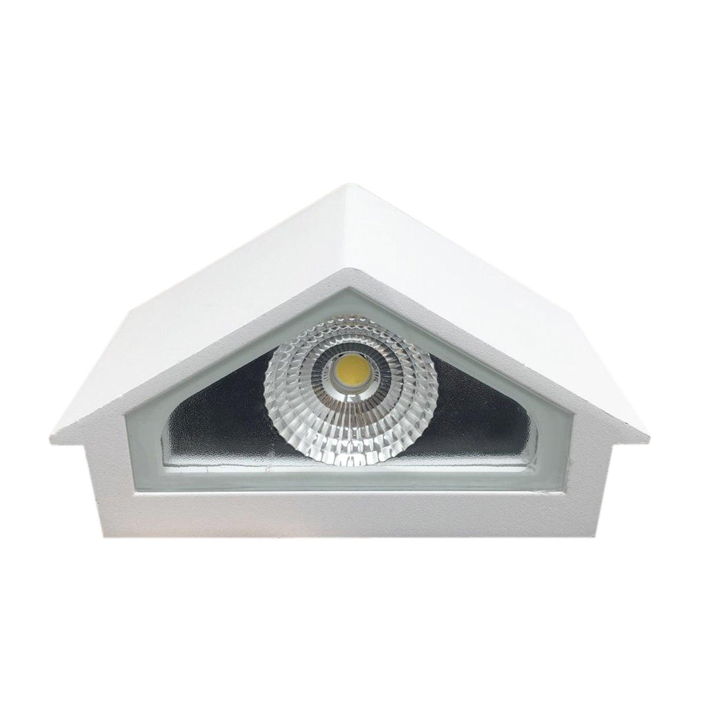 SILAMP Applique Murale LED 6W IP44 Design Maison - Blanc Neutre 4000K - 5500K