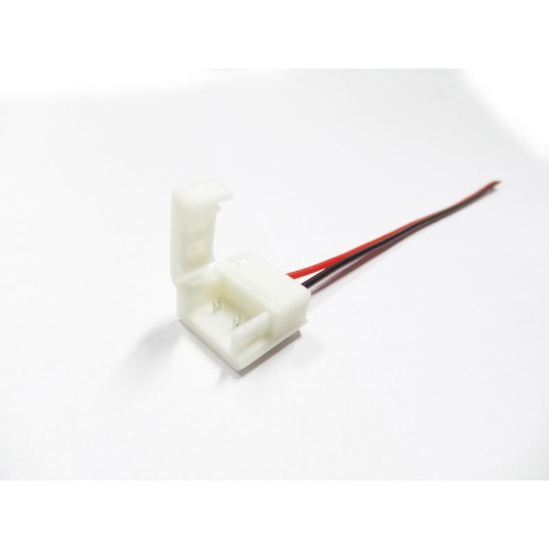 Connecteur Ruban LED 12V 5050 IP44 Simple - Blanc
