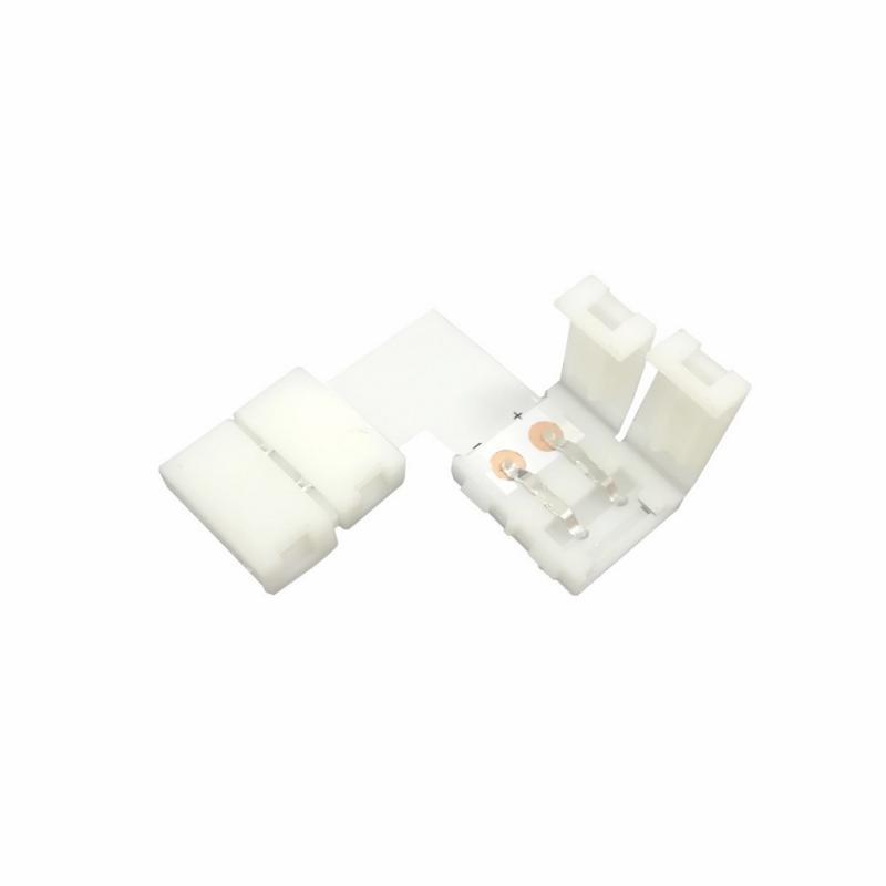 Silamp Connecteur Ruban LED 12V 5050 en L - Blanc