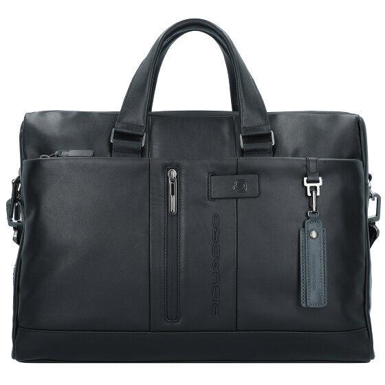 Piquadro Urban Serviette cuir 42 cm compartiment Laptop Black