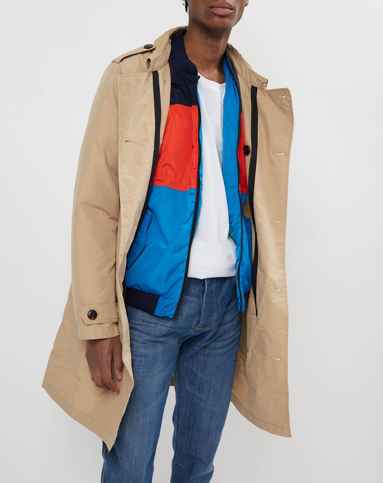 Scotch & Soda - Trench & Blouson amovible beige/multicolore