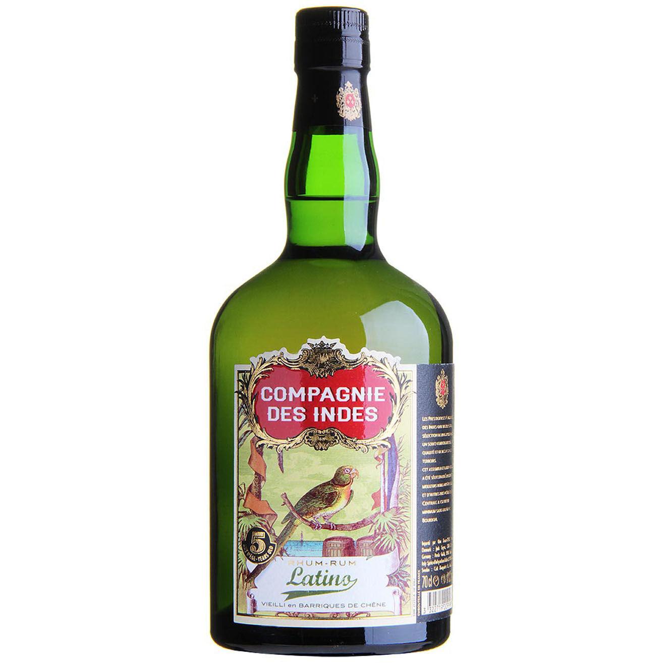 Spiritueux - 1 Rum Compagnie des Indes Latino 5 ans 40% 70cl + étui