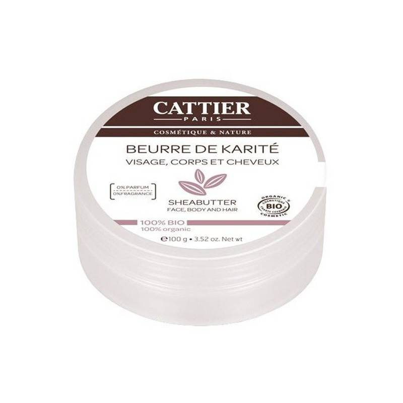 CATTIER Beurre de Karité 100% Naturel - BIO -100 g - Cattier