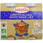 babybio  BABYBIO Carotte des Landes, Patate Douce et Blé - 2x200g - Babybio... par LeGuide.com Publicité
