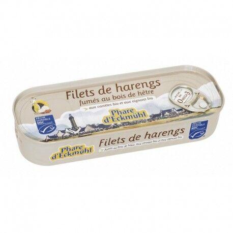 PHARE D'ECKMÜHL Filets de Harengs Fumés au Bois de Hêtre - 150gr - Phare d'Eckmühl
