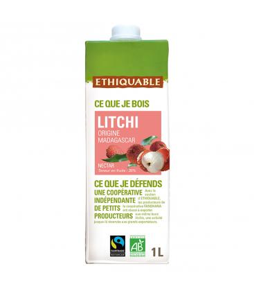 ETHIQUABLE Nectar de litchi de Madagascar bio & équitable