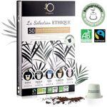 EQUITABLE Coffret Capsules Compatible Nespresso - 5 Cafés BIO Fairtrade...... par LeGuide.com Publicité