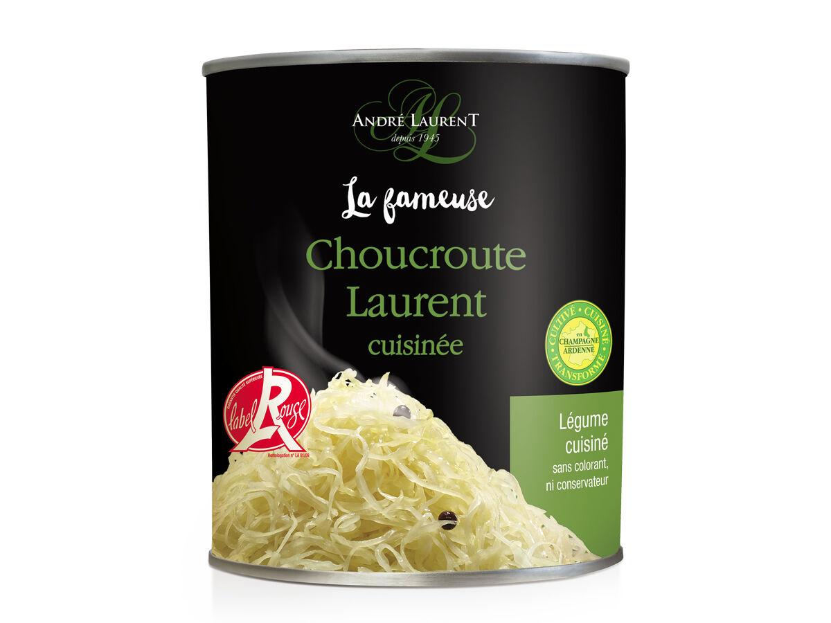 Choucroute André Laurent La Fameuse Choucroute Laurent Cuisinée - Lot De 12 Boites De 400g