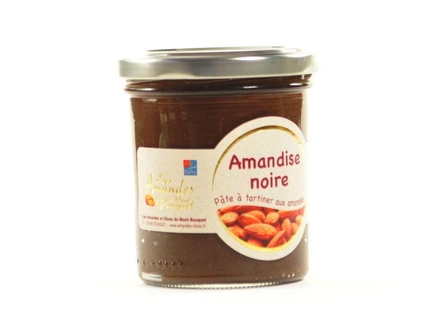 Les amandes et olives du Mont Bouquet Amandise au chocolat noir et à l'amande 200g
