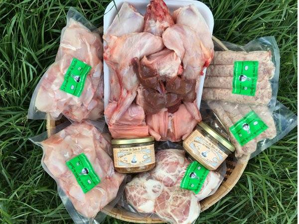 Ferme du Bois de Boulle Colis de viande de lapin pour 4 personnes