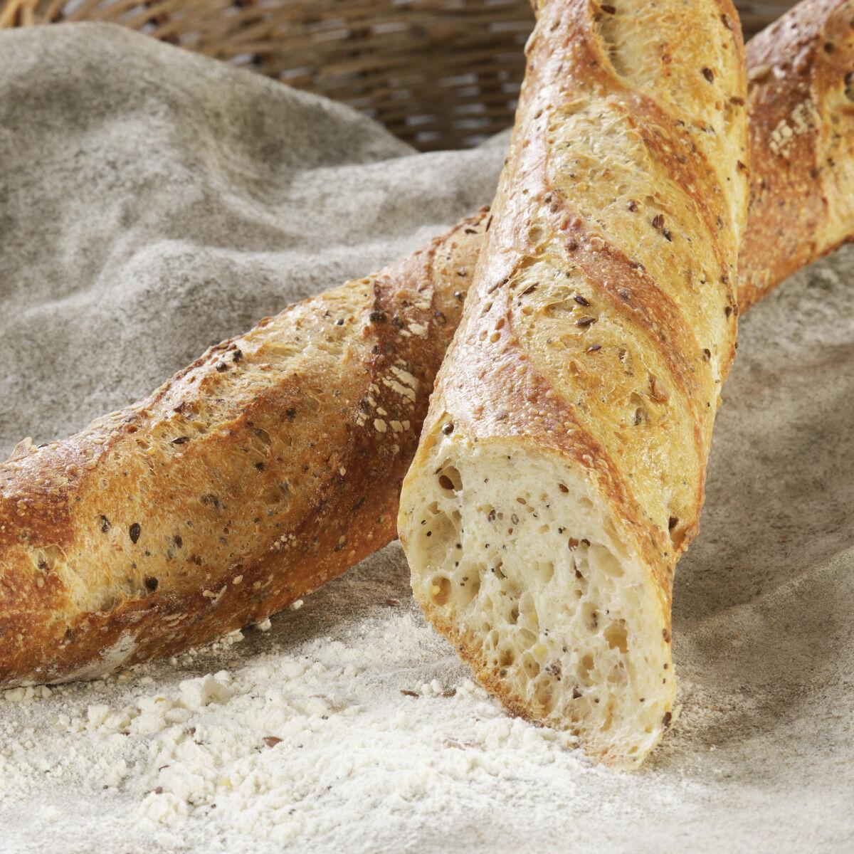Maison Boulanger 1/2 Baguette Cereales Pré Cuite Surgelée*3