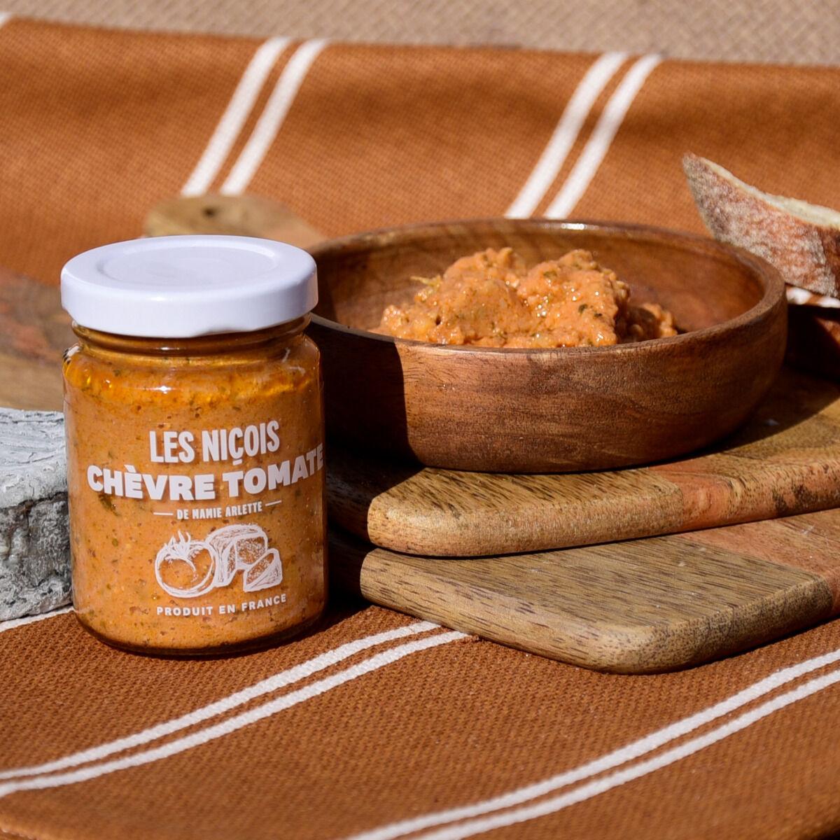 Les Niçois Chèvre Tomate De Mamie Arlette 80g
