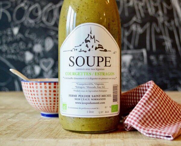 La Ferme du Polder Saint-Michel Soupe Courgette - Estragon - 1l