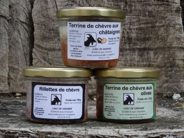 Mademoiselle Châtaigne Lot de 3 terrines de chèvre