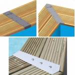 Kit de 4 enjoliveurs de margelles Ubbink ALU45D pour piscine bois rectangulaire... par LeGuide.com Publicité