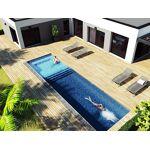Structure spa de nage polystyrène 9 x 3 x 1.00 à 1.25 m + Escalier +... par LeGuide.com Publicité