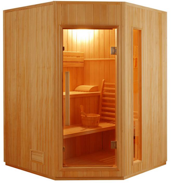 France SAUNA Sauna Vapeur Zen Angulaire 3-4 places