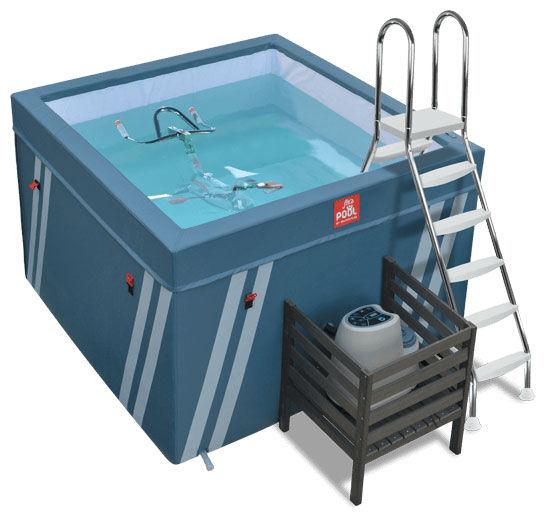 WATER FLEX Bassin pour aquabike Fit's Pool avec Happy Bike rose