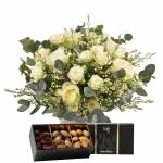interflora  Interflora Bouquet Vert coton et ses amandes au chocolat Vert... par LeGuide.com Publicité