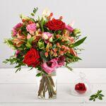 interflora  Interflora Bouquet Frimousse Aux tons feutrés rose et rouge,... par LeGuide.com Publicité