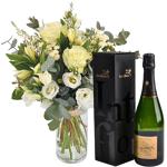 interflora  Interflora Bouquet Paradis blanc et son champagne Devaux Paradis... par LeGuide.com Publicité